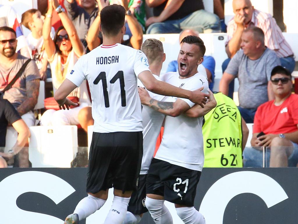 Sascha Horvath (r.) besiegelte Österreichs Auftaktsieg gegen Serbien
