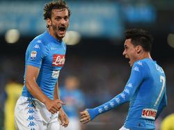 Napolis Manolo Gabbiadini (l.) soll das Interesse des FC Schalke geweckt haben