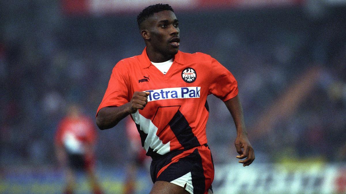Jay-Jay Okocha spielte von 1992 bis 1996 für Eintracht Frankfurt