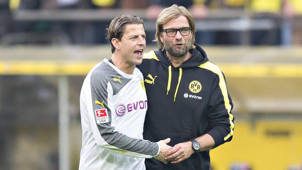 Roman Weidenfeller (r.) und Jürgen Klopp arbeiteten jahrelang erfolgreich zusammen bei Borussia Dortmund