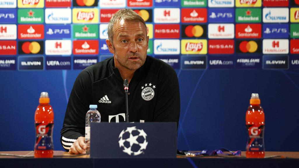 Hansi Flick vom FC Bayern stellte sich den Fragen der Presse