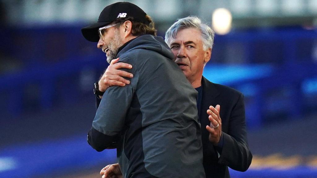 Jürgen Klopp und Carlo Ancelotti treffen am Samstag im Derby aufeinander
