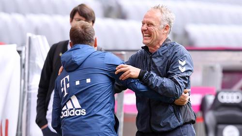 Christian Streich (r.) und Hansi Flick trafen am Wochenende aufeinander