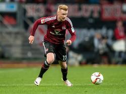 Zuletzt war Lauterns Neuzugang Sebastian Kerk vom SC Freiburg nach Nürnberg ausgeliehen