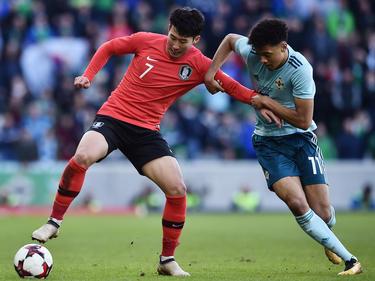 Heung-Min Son (l.) unterlag mit seinem Team gegen Nordirland
