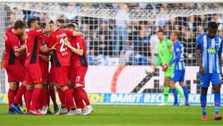 Der SC Freiburg bejubelt einen Punktgewinn in der Hauptstadt