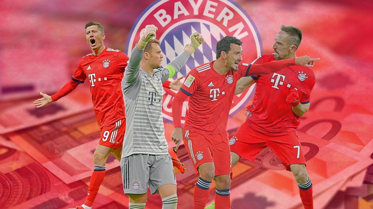 Das Gehalts-Ranking des FC Bayern