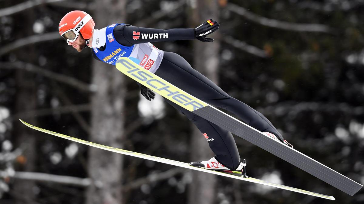 Markus Eisenbichler kam mit Flügen auf 224,5 und 222,5 Meter auf den dritten Rang