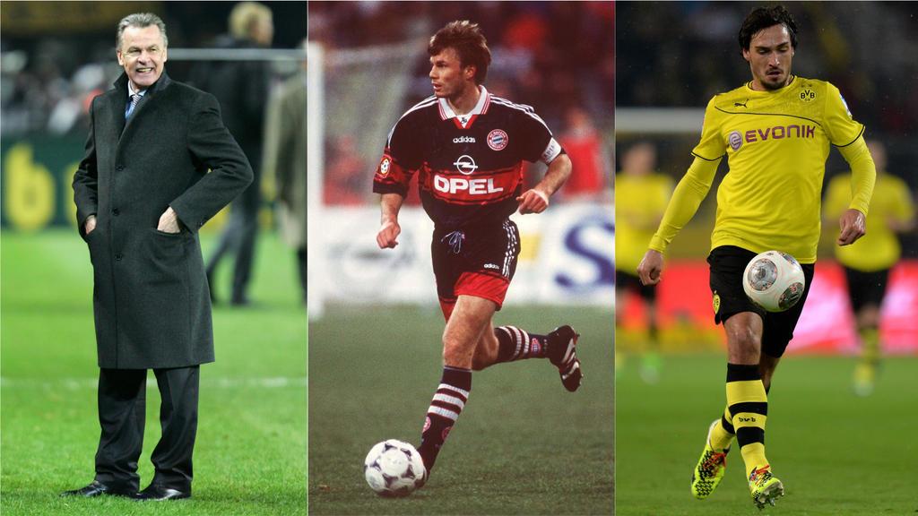 Hitzfeld, Helmer und Hummels wechselten vom BVB zum FC Bayern - und umgekehrt