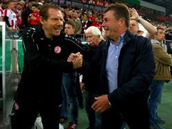 Dieter Hecking (re.) hat ein gutes Spiel seiner Mannschaft gesehen