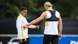 Beim BVB bald gemeinsam auf Torejagd: Donyell Malen und Erling Haaland