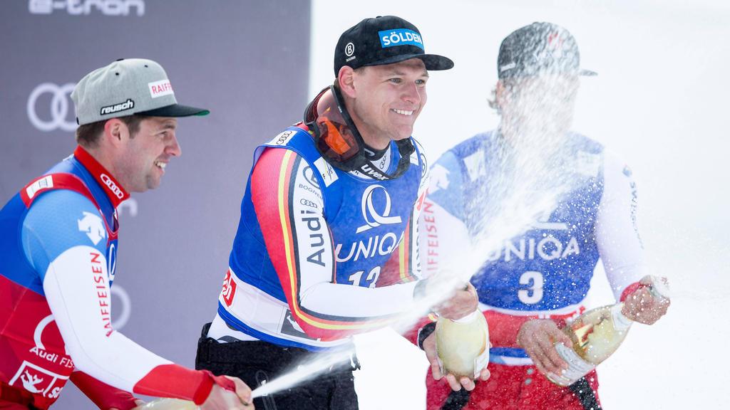 Thomas Dreßen siegte am Donnerstag im Abfahrtsrennen