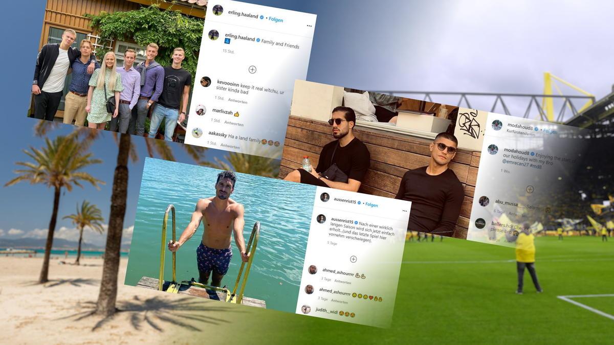 Die BVB-Stars im Sommerurlaub