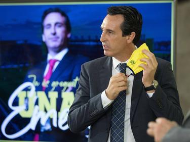 Emery durante su presentación con el Villarreal.