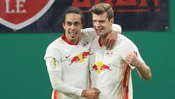 Alexander Sörloth (r.) traf gegen Wolfsburg