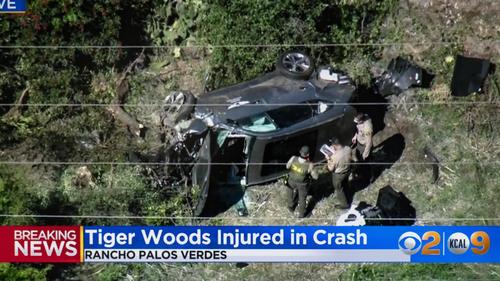 Tiger Woods in heftigen Autounfall verwickelt