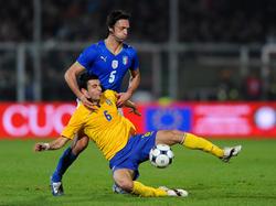 Italien schlägt Schweden mit 1:0
