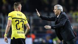 BVB-Trainer Lucien Favre wirkt trotz des Höhenflugs nicht ganz zufrieden