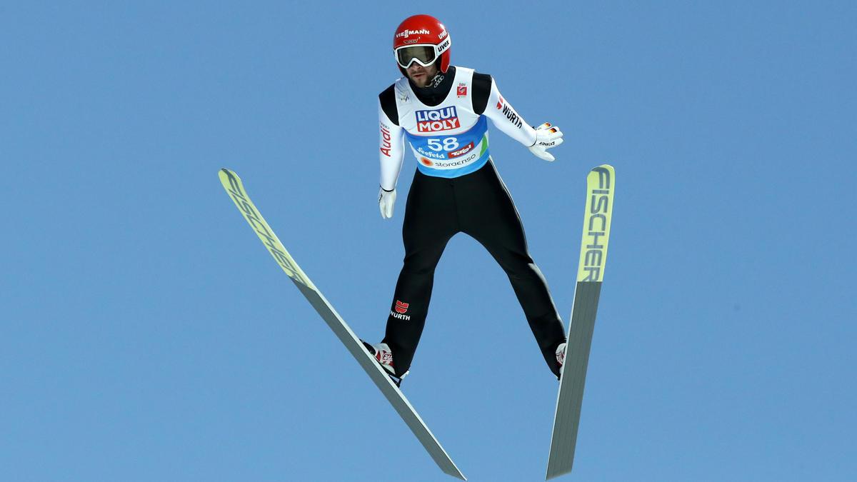 Markus Eisenbichler wurde in der Qualifikation guter Dritter