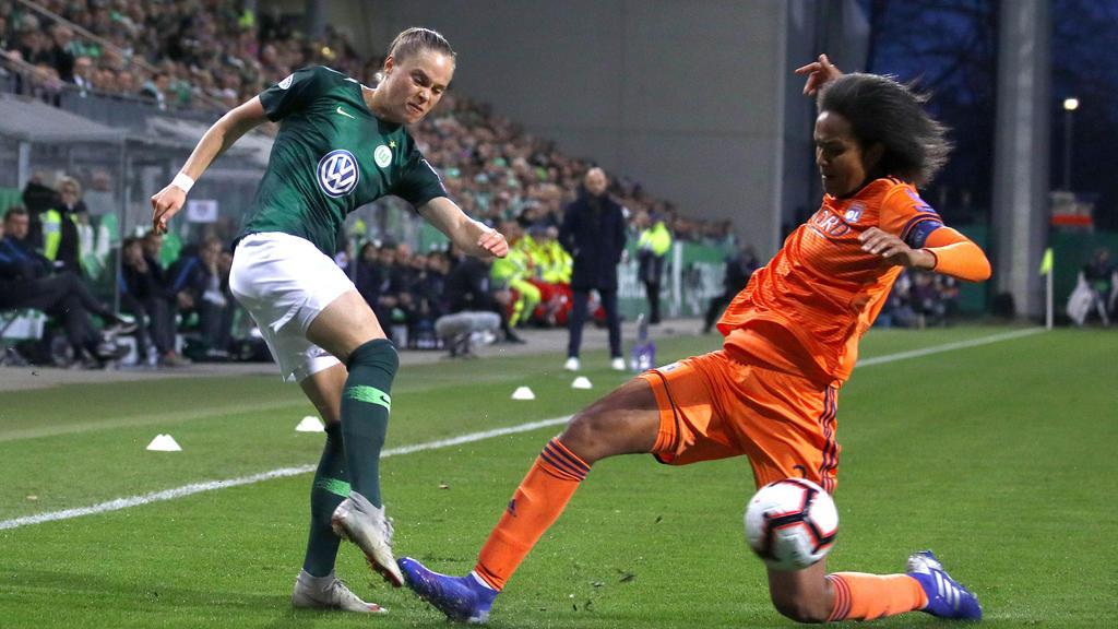 Der VfL Wolfsburg scheiterte an Olympique Lyon