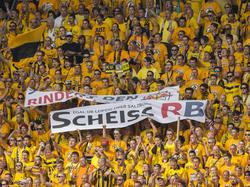 Die Dynamo-Fans sorgten gegen Leipzig für Aufregung
