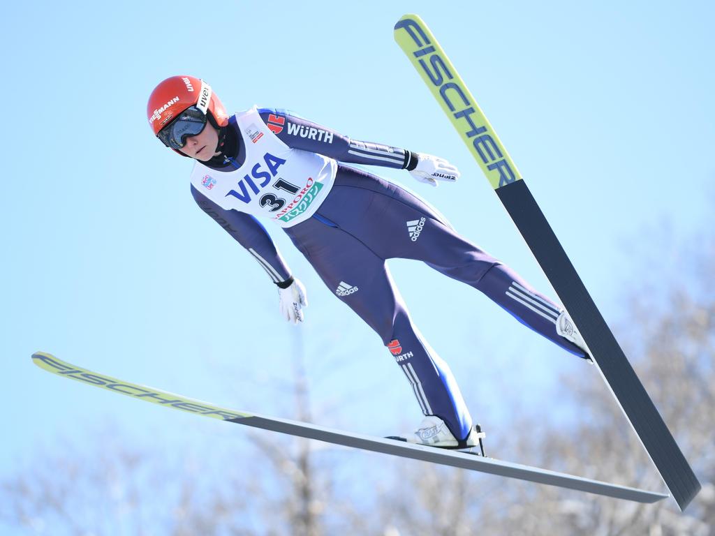 Carina Vogt zeigte in Sapporo gute Sprünge