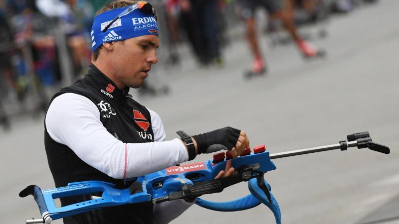 Simon Schempp beim Biathlon-Training