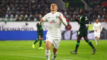 Werder Bremens Top-Torschütze Milot Rashica jubelt nach einem Treffer