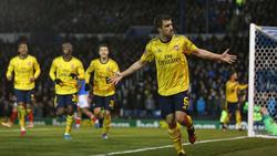 Sokratis erzielte die Führung für Arsenal