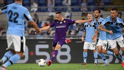 Franck Ribéry (M.)  traf gegen Lazio