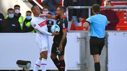 Karim Bellarabi (r.) sorgte für Unmut bei Bayer Leverkusen