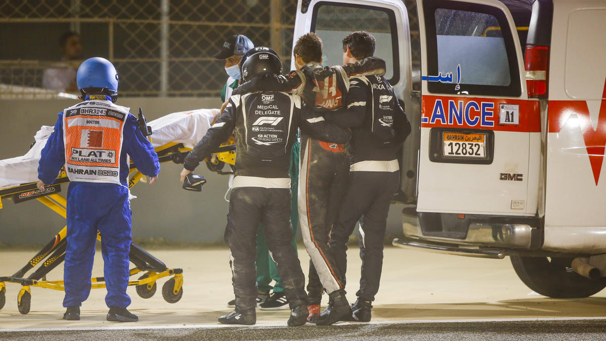 Romain Grosjean muss im Krankenhaus bleiben