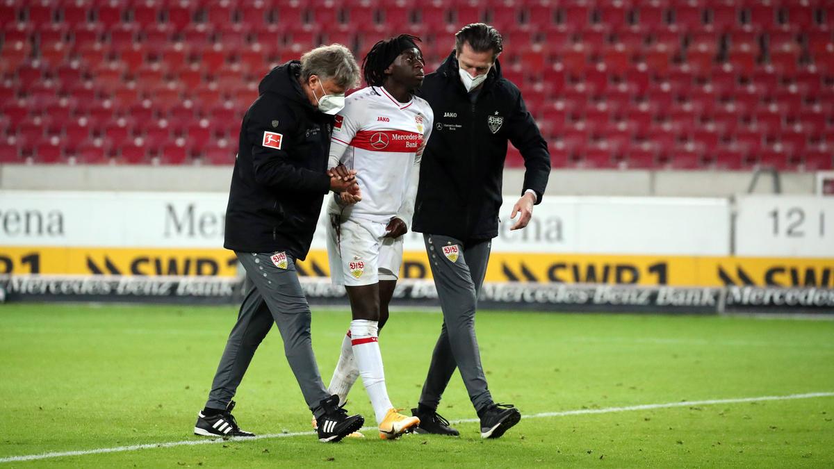 Für Tanguy Coulibaly vom VfB Stuttgart ist die Saison beendet