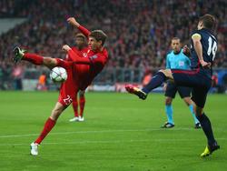Müller akrobatisch, aber erfolglos