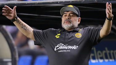 Mal wieder mächtig sauer: Diego Maradona