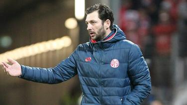 Mainz-Trainer Sandro Schwarz standen nur zehn Feldspieler zur Verfügung