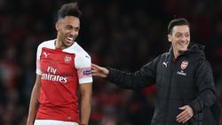 Pierre-Emerick Aubameyang und Mesut Özil stehen beim FC Arsenal noch bis 2021 unter Vertrag