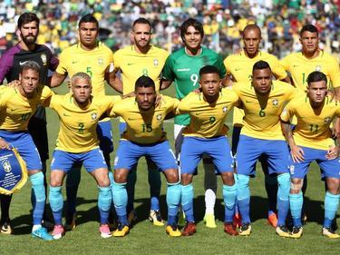 Ex-Werder-Akteur Marcelo Moreno schummelte sich aufs Seleção-Foto (Bildquelle: twitter.com/CBF_Futebol)