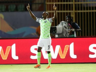 Odion Ighalo celebra su gol.