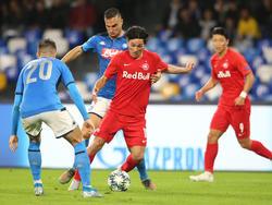 Minamino gegen Napoli