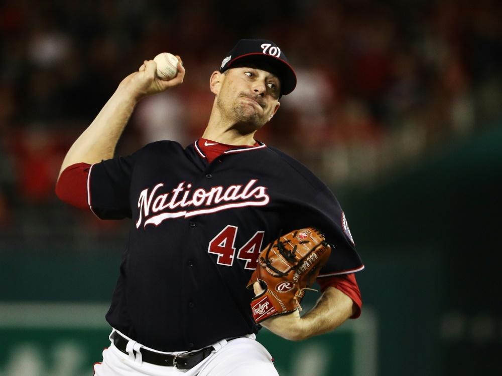 Daniel Hudson und Washington stehen in der World Series