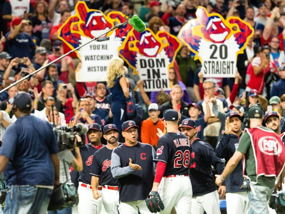 Den 20. Sieg in Folge feierten die Cleveland Indians