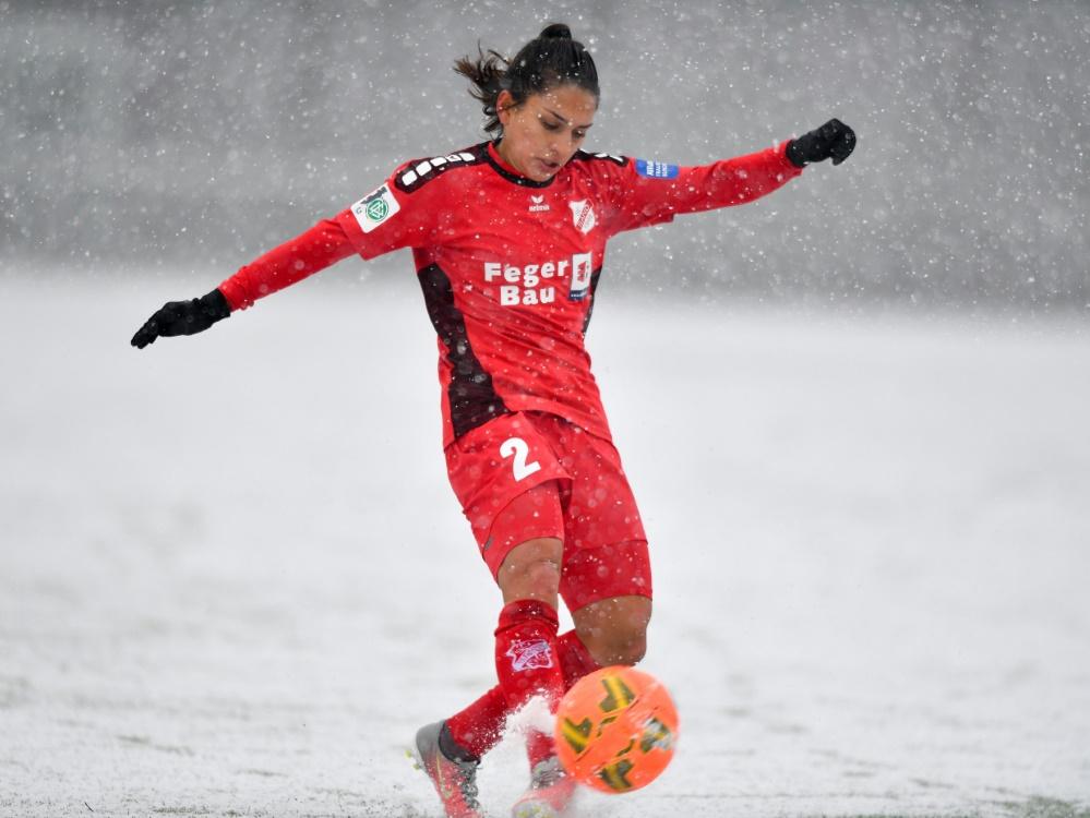 Für den SC Sand im Schneegestöber: Leticia Santos de Oliveira