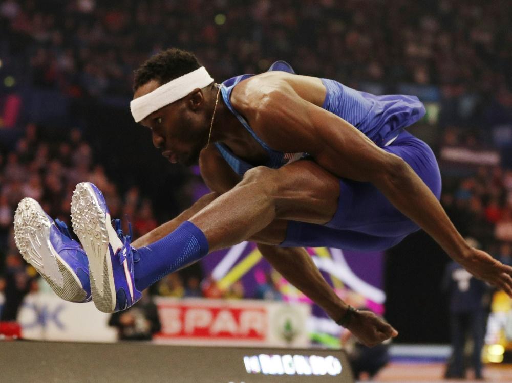US-Dreispringer Will Claye sprang erneut über 18 m