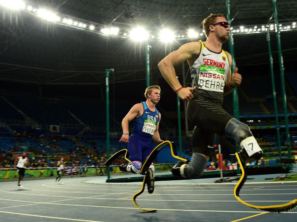 David Behre hat die Silbermedaille über die 400 m geholt