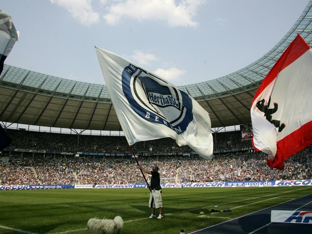 Hertha BSC startet Fahnenaktion vor Hauptstadt-Derby
