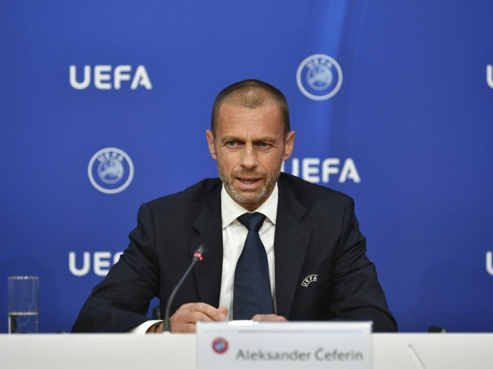 UEFA-Präsident Ceferin bekräftigt Null-Toleranz-Politik