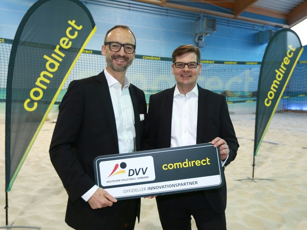 DVV-Chef Thomas Krohne (l.) mit Arno Walter (comdirect)