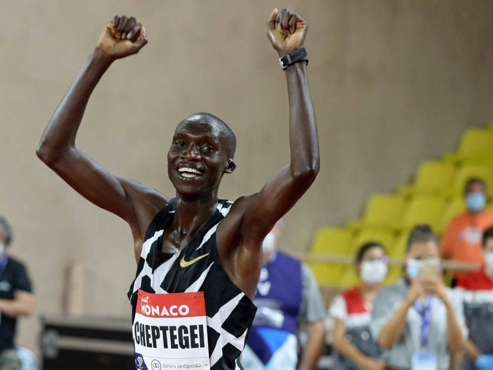 Für Joshua Cheptegei ist es 2020 der dritte Weltrekord