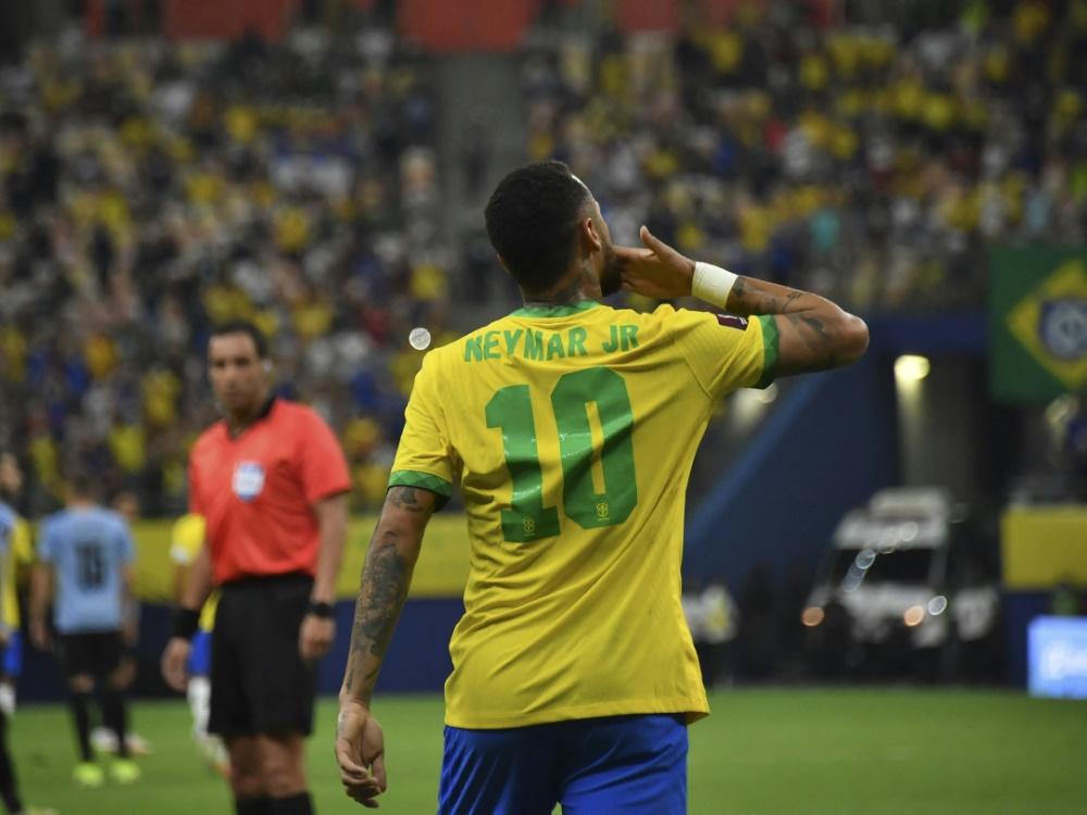 Erzielte den ersten Treffer für Brasilien: Neymar